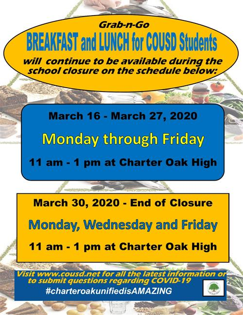 Food Services Schedule Change