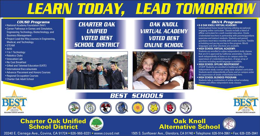 Charter Oak Unified School District / Welcome to the Charter